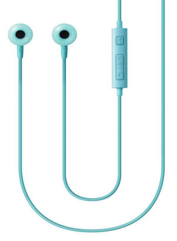 Наушники с микрофоном SAMSUNG EO-HS130, 3.5 мм, вкладыши, голубой [eo-hs1303legru]