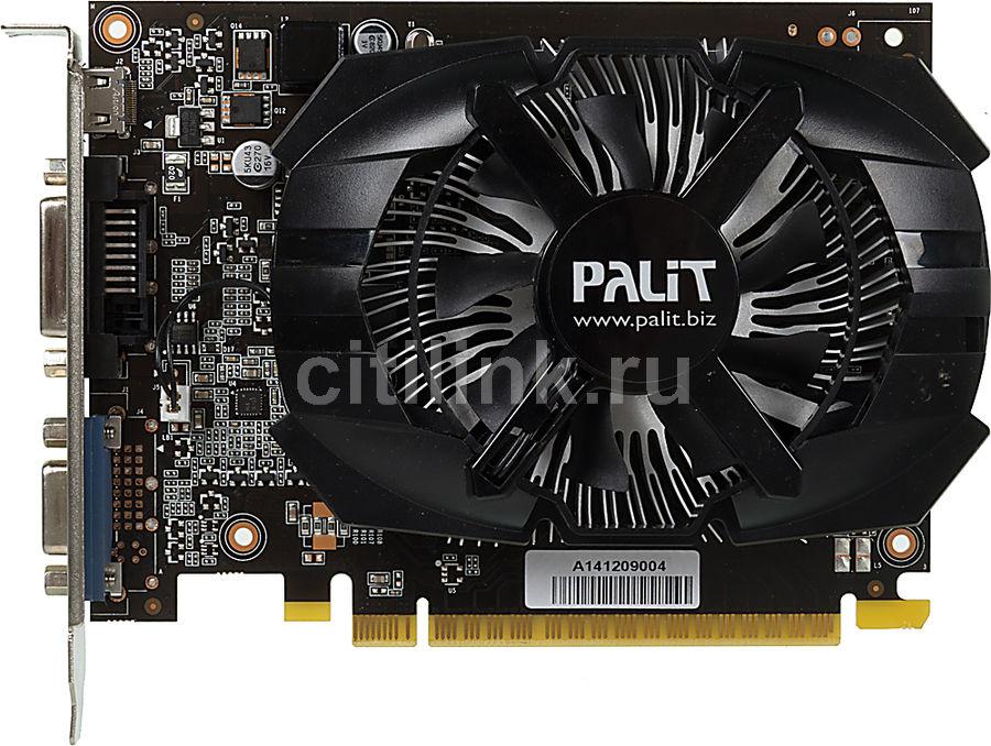 Видеокарта PALIT GeForce GT 720,  PA-GT720-1GD3H,  1Гб, GDDR5, OC,  oem [neat7200hd06-2080h bulk]
