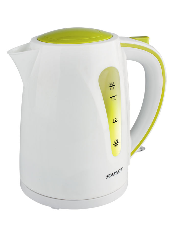 Чайник электрический SCARLETT SC-EK18P13, 2200Вт, белый и зеленый