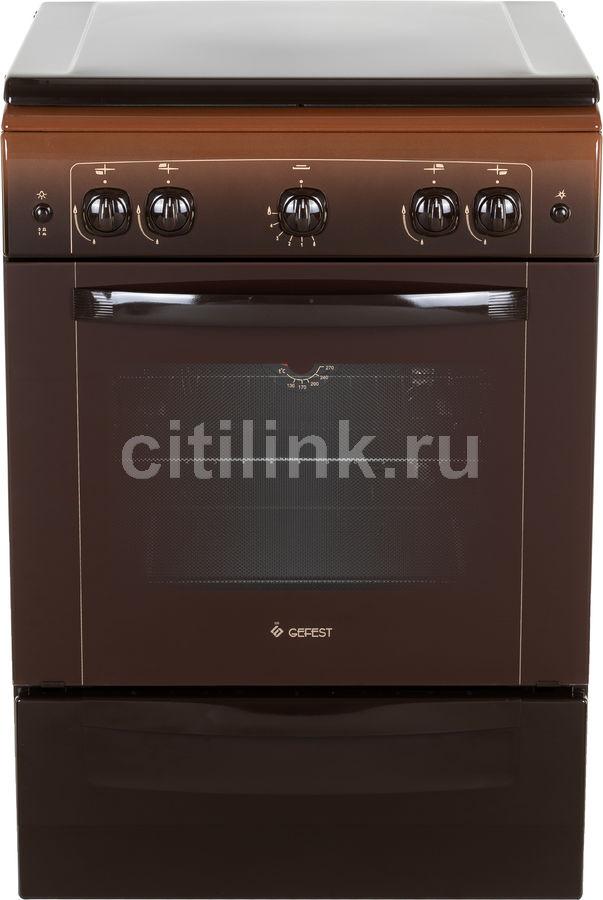 Газовая плита GEFEST 6100-01 0001,  газовая духовка,  коричневый [пг 6100-01 0001]
