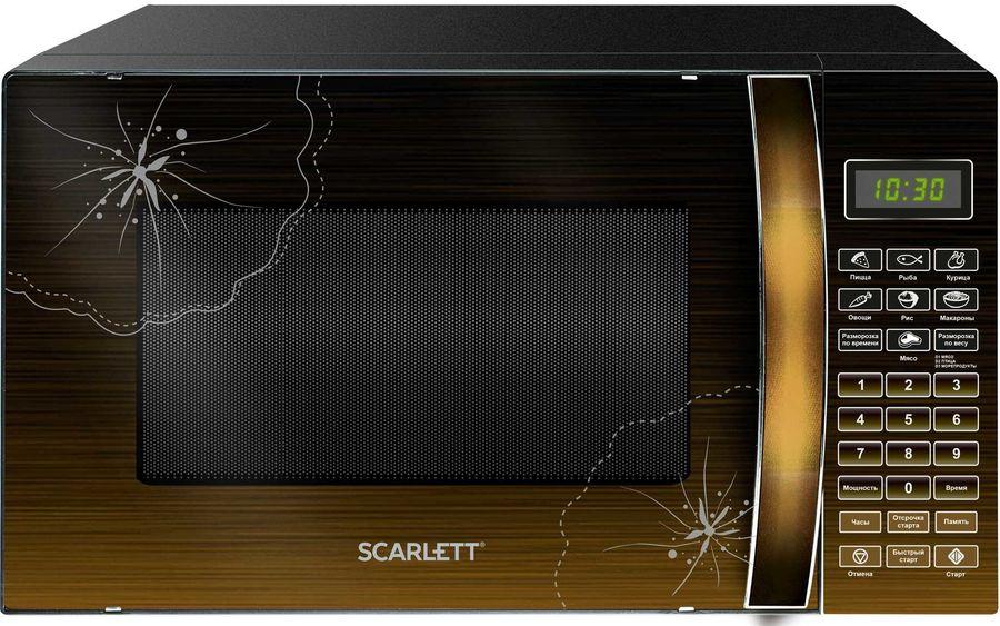 Микроволновая Печь Scarlett SC-MW9020S01D 20л. 700Вт черный/лесной орех