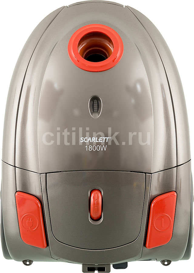 Пылесос SCARLETT SC-VC80B01, 1800Вт, оранжевый/серый