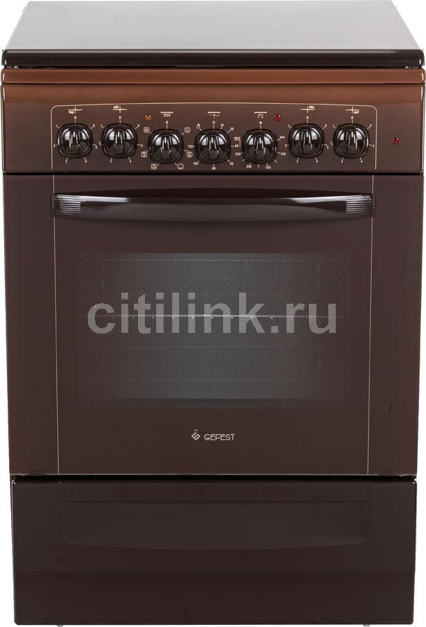 Электрическая плита GEFEST ЭП Н Д 6140-02 0001,  эмаль,  коричневый