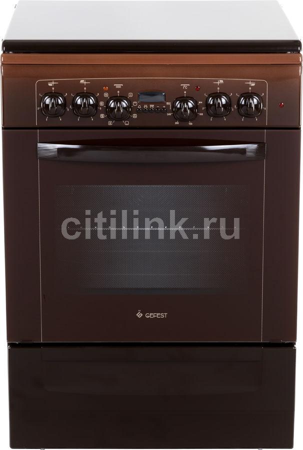 Электрическая плита GEFEST ЭП Н Д 6140-03 0001,  эмаль,  коричневый