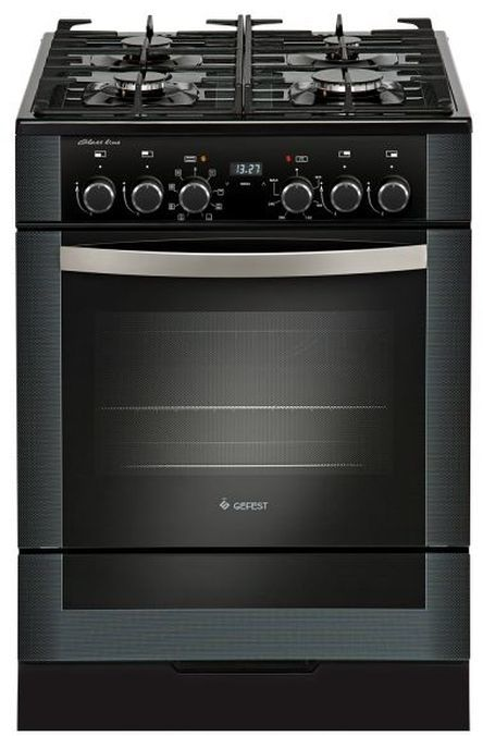 Газовая плита GEFEST 6502-03 0044,  электрическая духовка,  черный [пгэ 6502-03 0044]
