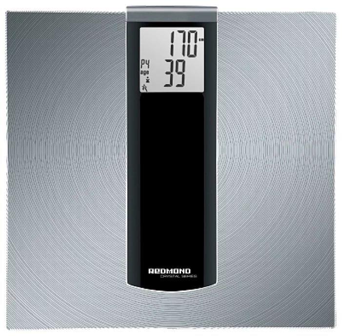 Напольные весы REDMOND RS-740S, до 150кг, цвет: серебристый/черный