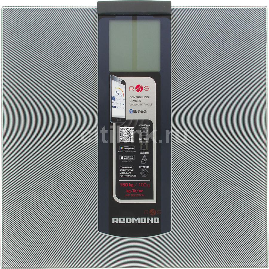 Весы REDMOND RS-740S, до 150кг, цвет: серебристый/черный