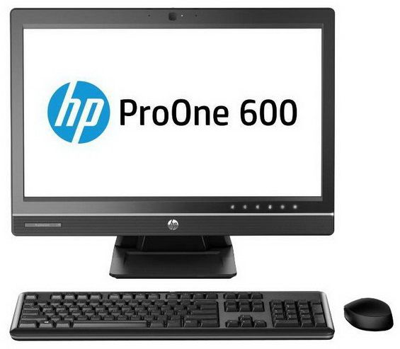 Моноблок HP ProOne 600 G1, Intel Pentium G3250, 4Гб, 1000Гб, Intel HD Graphics, DVD-RW, Windows 7 Professional, черный [j7d59ea]