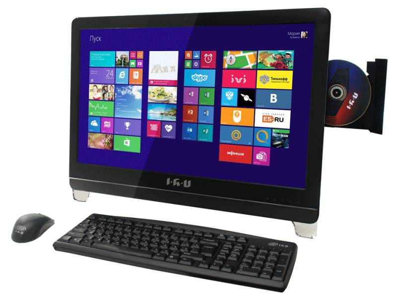 Моноблок IRU T2304, Intel Core i5 4460, 4Гб, 1Тб, nVIDIA GeForce 840M - 2048 Мб, DVD-RW, Windows 8.1, черный [278197]