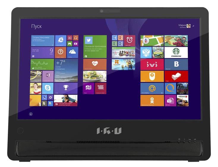 Моноблок IRU Office S1801, Intel Celeron N2830, 2Гб, 500Гб, Intel HD Graphics, Intel HD Graphics, DVD-RW, Windows 8.1, черный [278211]