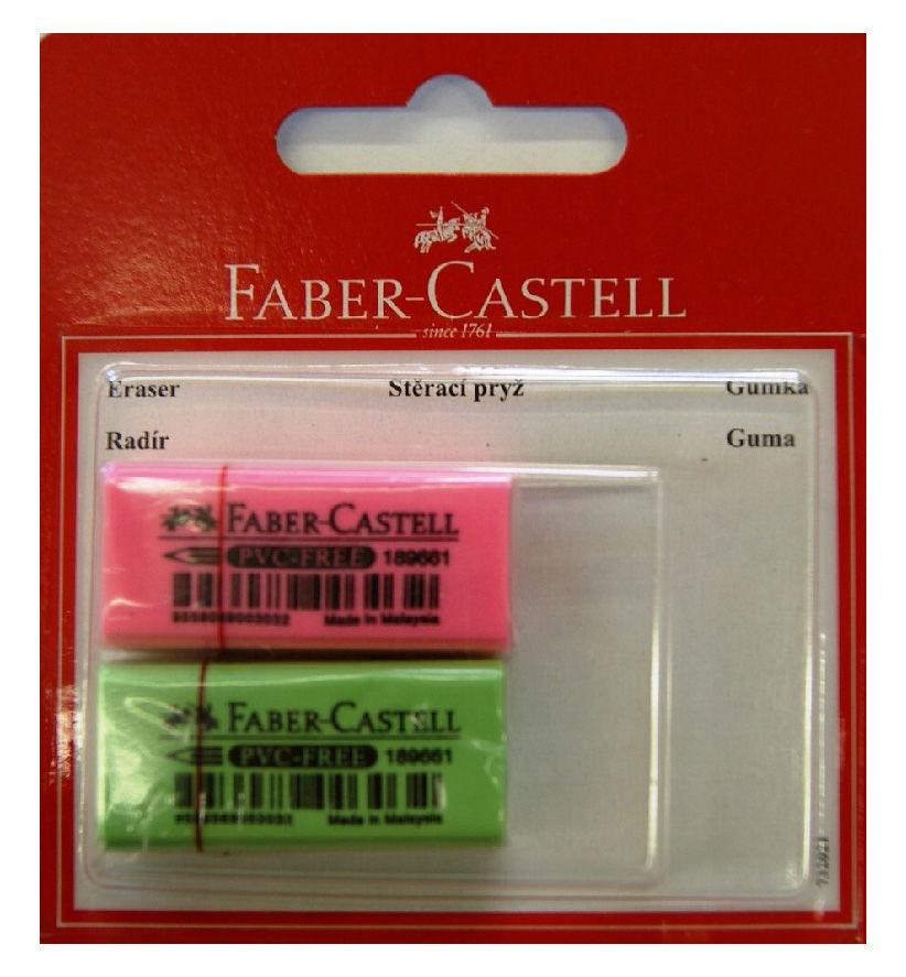 Ластик Faber-Castell 263397 флуоресцентный блистер (2шт)