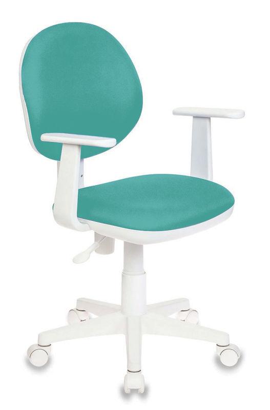 Кресло детское БЮРОКРАТ CH-W356AXSN, на колесиках, ткань, бирюзовый [ch-w356axsn/15-175]