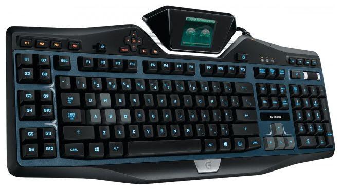 Клавиатура LOGITECH G19s,  USB, c подставкой для запястий, черный серый [920-004991]