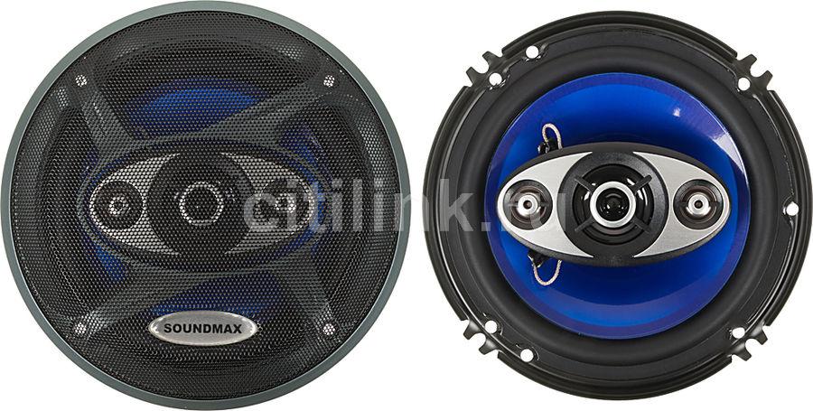 Колонки автомобильные SOUNDMAX SM-CSC604,  коаксиальные,  180Вт