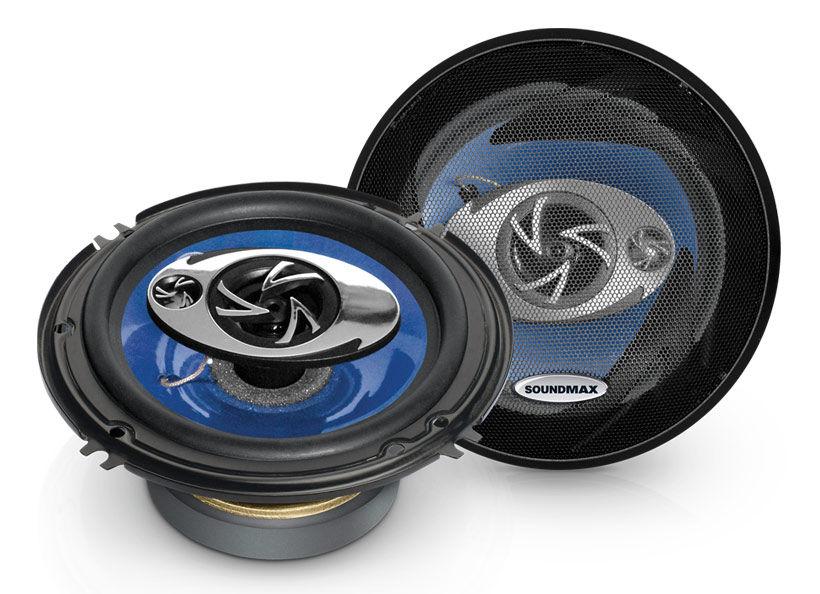 Колонки автомобильные SOUNDMAX SM-CSD603,  коаксиальные,  160Вт