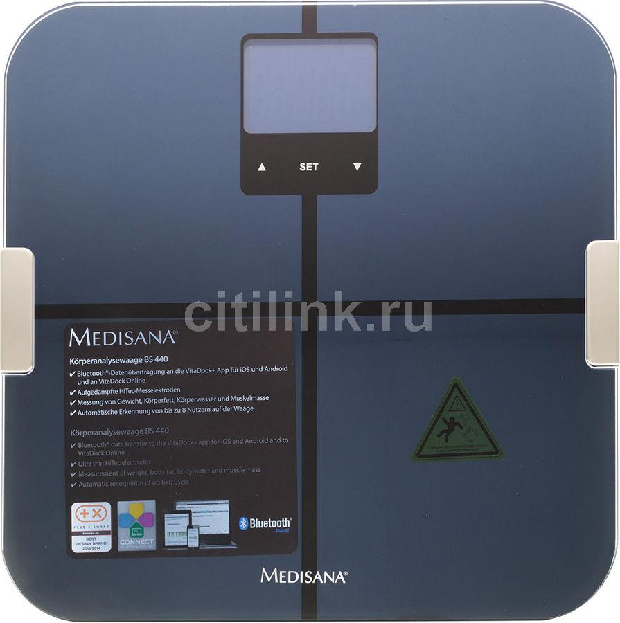 Весы MEDISANA BS 440 Connect, до 180кг, цвет: черный [40423]