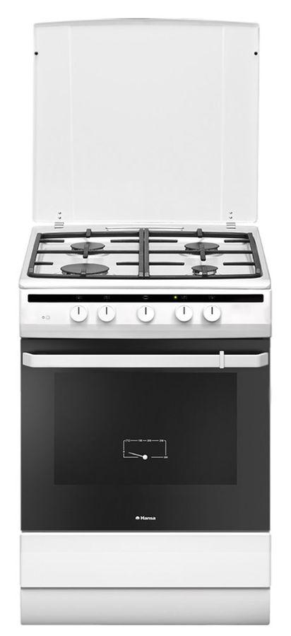 Газовая плита HANSA FCGW63021,  газовая духовка,  белый