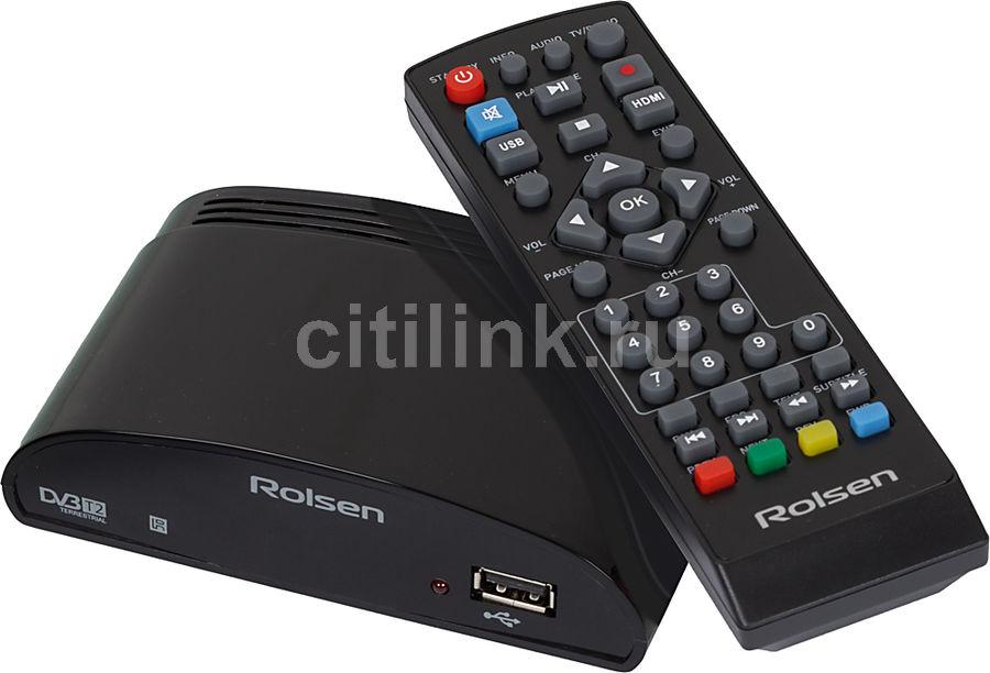 Ресивер DVB-T2 ROLSEN RDB-523,  черный [1-rldb-rdb-523]