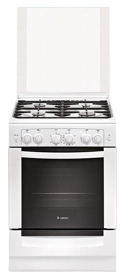 Газовая плита GEFEST 6100-02 0002,  газовая духовка,  белый [пг 6100-02 0002]