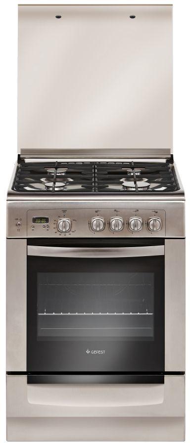 Газовая плита GEFEST 6100-03 0004,  газовая духовка,  серебристый [пг 6100-03 0004]
