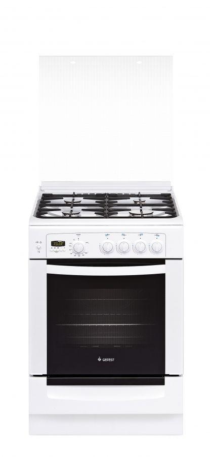 Газовая плита GEFEST 6100-04 0002,  газовая духовка,  белый [пг 6100-04 0002]