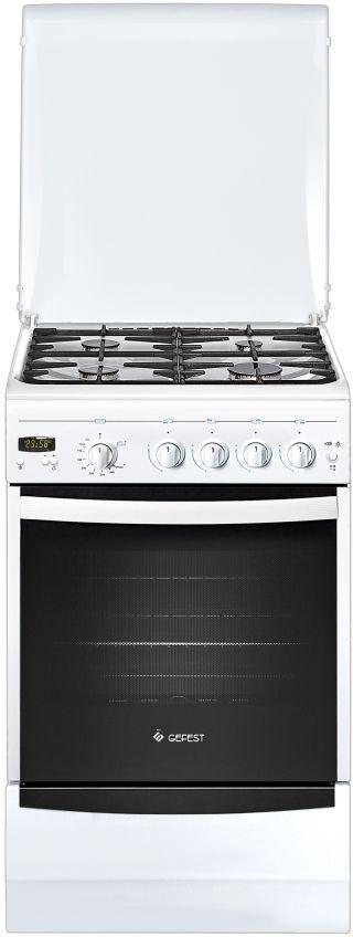 Газовая плита GEFEST ПГ 5100-03,  газовая духовка,  белый