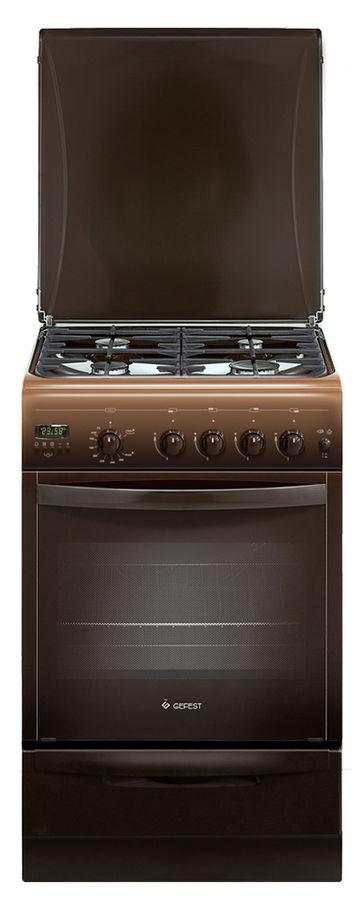Газовая плита GEFEST ПГ 5100-04 0001,  газовая духовка,  коричневый