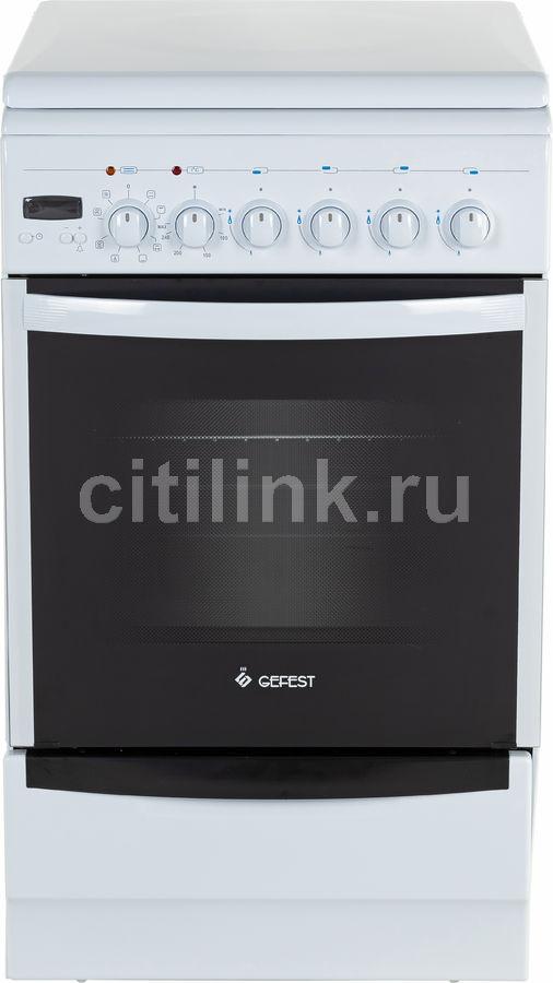 Газовая плита GEFEST ПГЭ 5102-03,  электрическая духовка,  белый