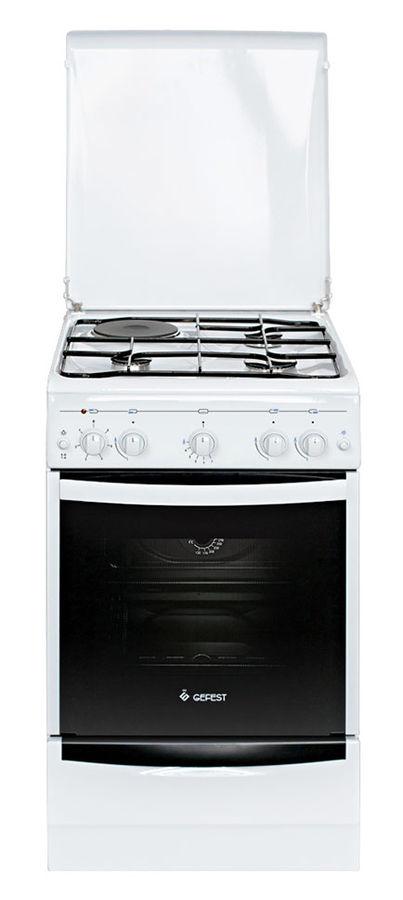 Газовая плита GEFEST ПГЭ 5110-01,  газовая духовка,  белый
