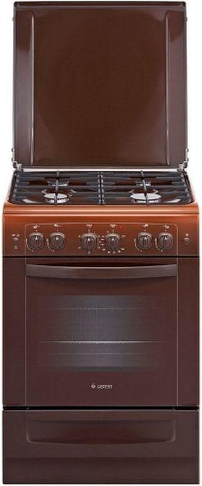 Газовая плита GEFEST ПГЭ 6101-02 0001,  газовая духовка,  коричневый