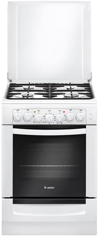 Газовая плита GEFEST ПГЭ 6102-02,  электрическая духовка,  белый