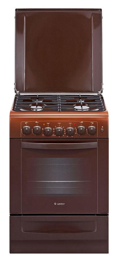 Газовая плита GEFEST ПГЭ 6102-02 0001,  электрическая духовка,  коричневый