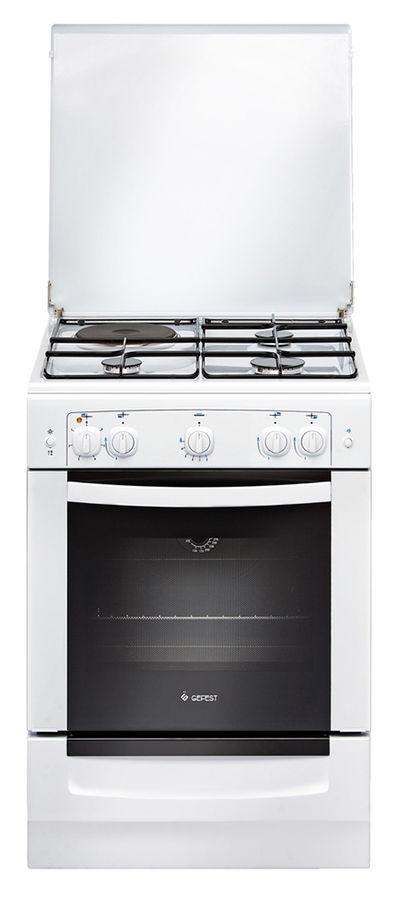 Газовая плита GEFEST ПГЭ 6110-01,  газовая духовка,  белый