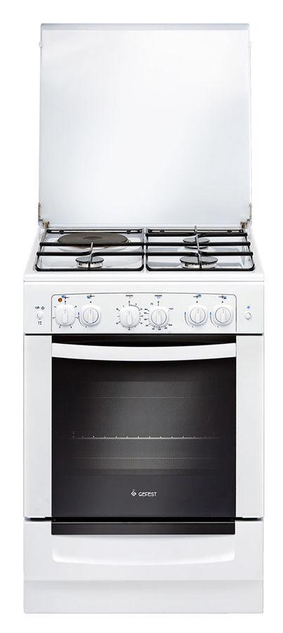 Газовая плита GEFEST ПГЭ 6110-02,  газовая духовка,  белый