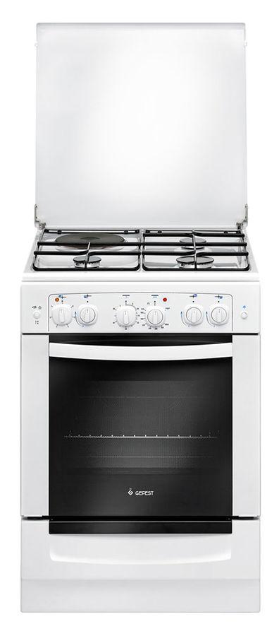 Газовая плита GEFEST ПГЭ 6111-02,  газовая духовка,  белый
