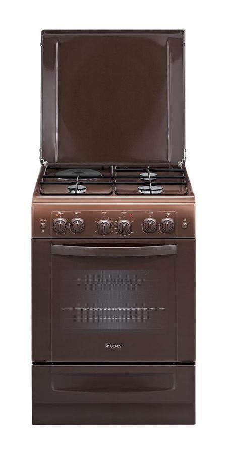 Газовая плита GEFEST ПГЭ 6111-02 0001,  газовая духовка,  коричневый