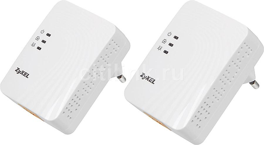 Сетевой адаптер PowerLine ZYXEL PLA4201V2 EE (X2) Ethernet