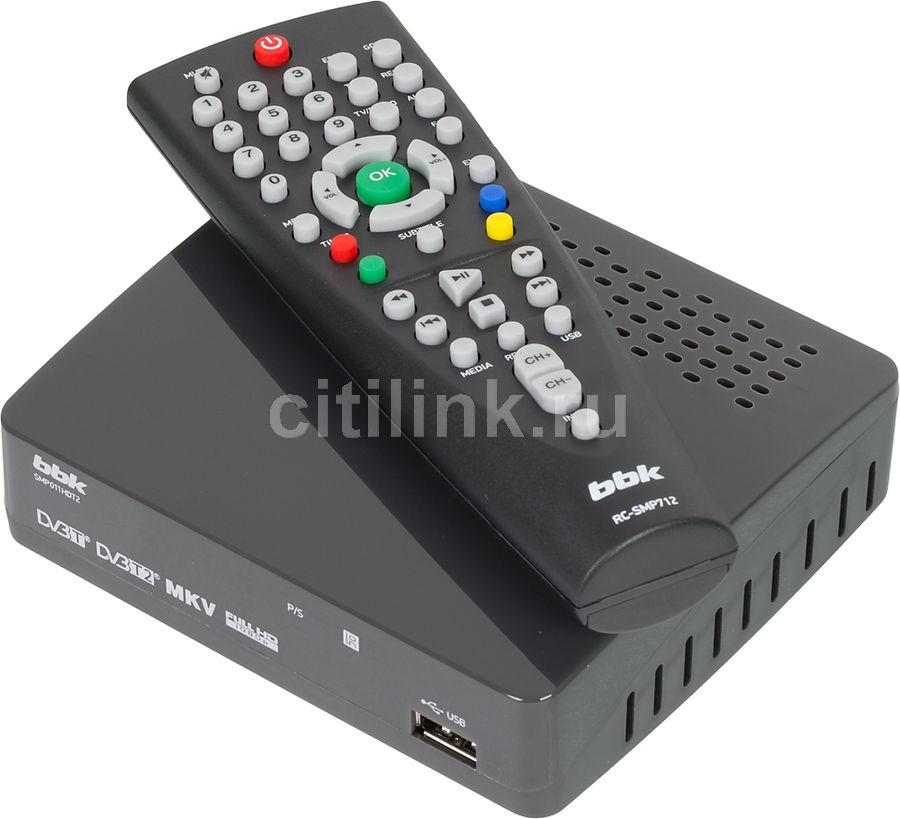 Ресивер DVB-T2 BBK SMP011HDT2,  темно-серый [(dvb-t2) dvb-t smp011hdt2 т-с]