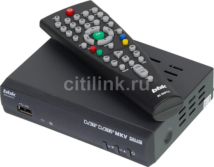 Ресивер DVB-T2 BBK SMP240HDT2,  темно-серый [(dvb-t2) dvb-t smp240hdt2 т-с]