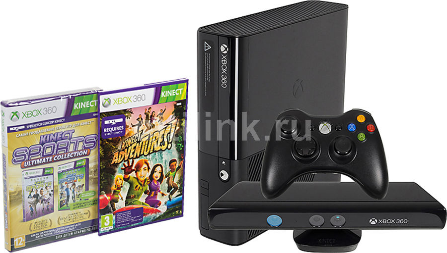 Игровая консоль MICROSOFT Xbox 360 3MN-00024, черный
