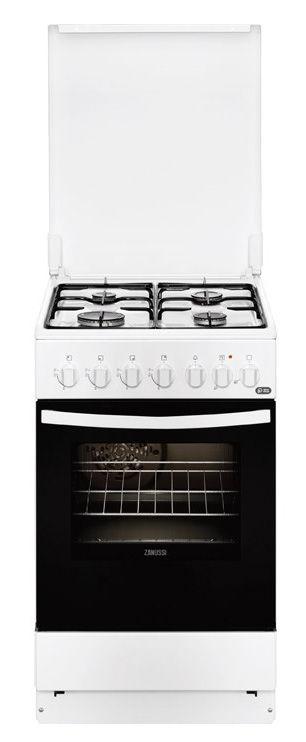 Газовая плита ZANUSSI ZCK9552G1W,  электрическая духовка,  белый