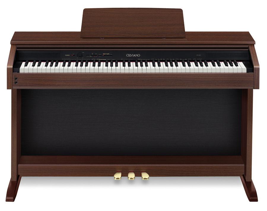 Цифровое фортепиано CELVIANO CASIO AP-260BN, 88, полновзвешенная, полноразмерные, 128, коричневый