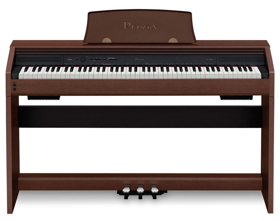 Цифровое фортепиано PRIVIA CASIO PX-760BN, 88, полновзвешенная, полноразмерные, 128, коричневый