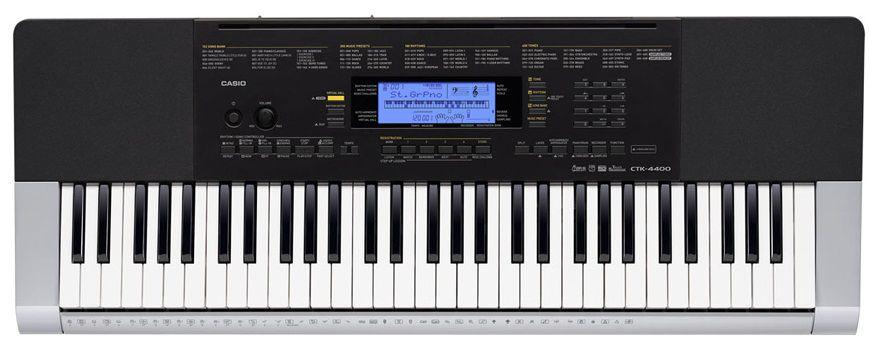 Синтезатор CASIO CTK-4400, 61, невзвешенная, полноразмерные, 48, серый