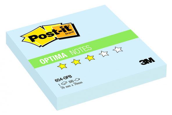 Блок самоклеящийся бумажный 3M Post-it Optima Зима 654-OPB 7100041128 76x76мм 100лист. пастель голуб