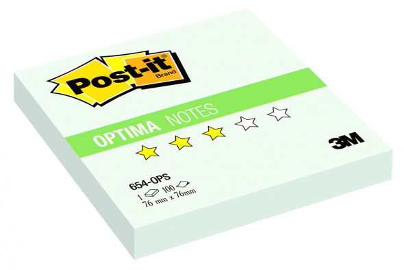 Блок самоклеящийся бумажный 3M Post-it Optima Зима 654-OPS 7100041129 76x76мм 100лист. пастель сереб