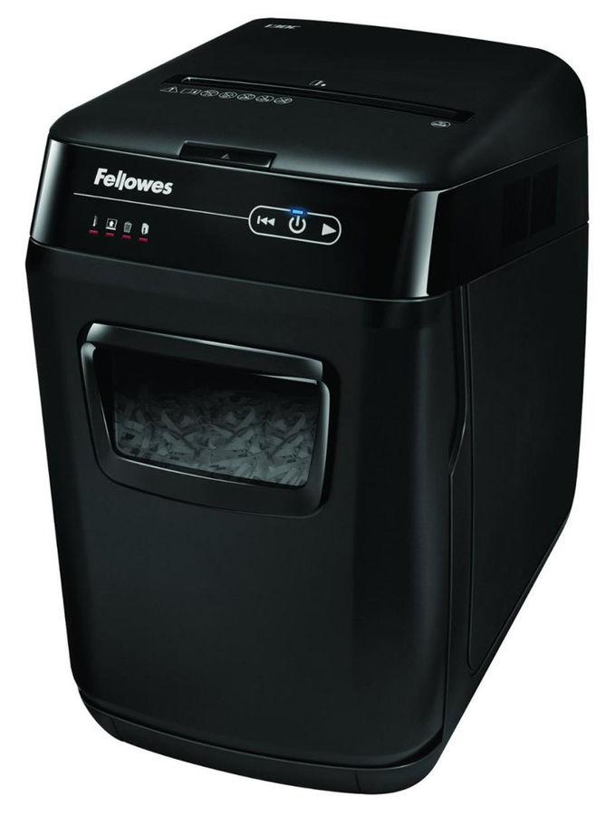Уничтожитель бумаг FELLOWES AutoMax 200C,  P-4,  4х36 мм [fs-46536]