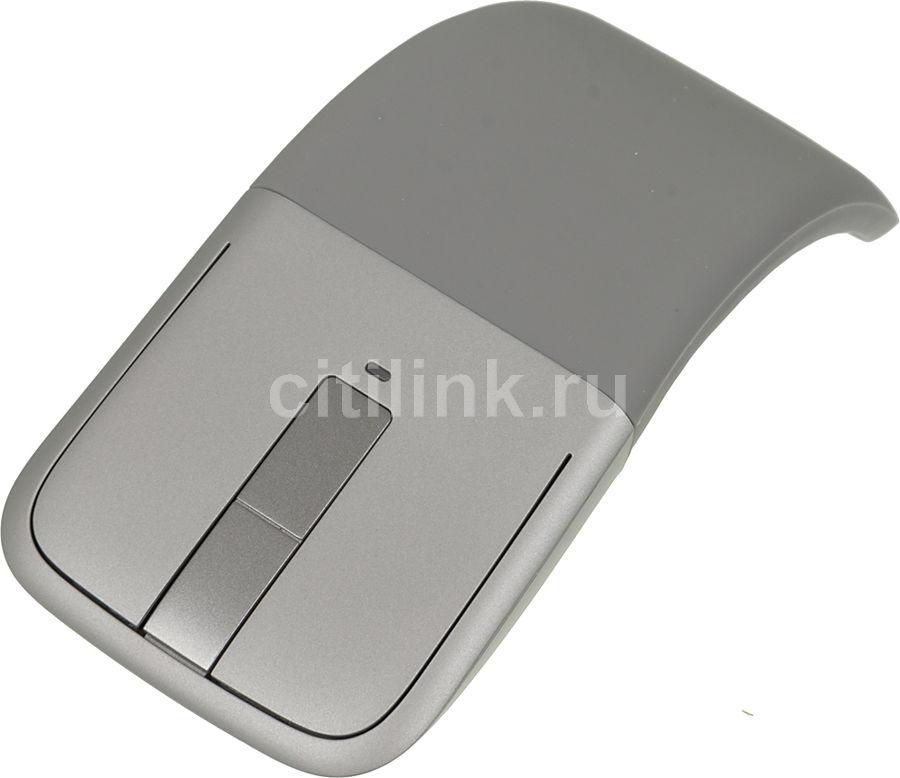 Мышь MICROSOFT Touch ARC оптическая беспроводная серый [7mp-00005/7mp-00015]