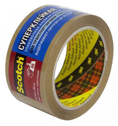 Клейкая лента упаковочная 3M Scotch C5066F6В 7000035400 коричневая шир.50мм дл.66м 48мкр суперклейка