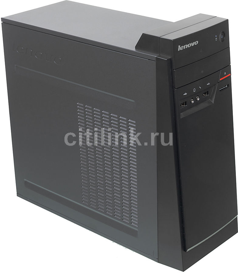 Компьютер  LENOVO E50-00,  Intel  Celeron  J1800,  DDR3 2Гб, 500Гб,  Intel HD Graphics,  CR,  Free DOS,  черный [90bx003grk]